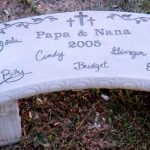 Stone Memorial Bench